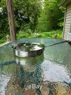 All Cuivre Avec L'âme 6 Pot Sauce Saute Pan Quart Pintes Avec Couvercle Fait En Amérique