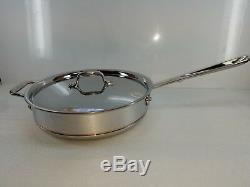 All Cuivre Clad Core 4 Pot Sauce Saute Pan Quart Pintes Avec Couvercle Fait En Amérique