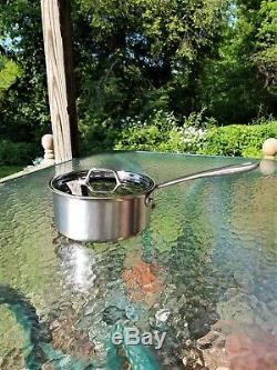 All Cuivre Tk Clad Noyau 3 Sauce Quart Qt Pan Avec Couvercle Fait En Amérique