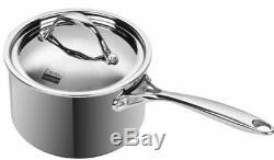 All Pans Cooks Sauce Enrobée De 3 Pintes En Acier Inoxydable Recouvert De Plusieurs Épaisseurs