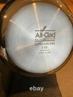 All-clad 4212 Avec Fouet D3 Saucier 2-quart Argent