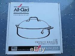 All-clad 4515 En Acier Inoxydable 3-ply Bonded Français Braiser Avec Rack, 6 Pintes