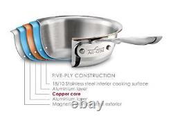 All-clad 5-ply Tk Copper Core 2-quart Saucier Avec Couvercle