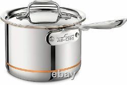 All-clad 6202 Copper Core 5-ply Lave-vaisselle Safe Saucepan, 2-quart Nouveau Dans La Boîte