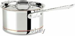 All-clad 6204 Copper Core 5-ply Saucepan With Lid, 4-quart New In Retail Box