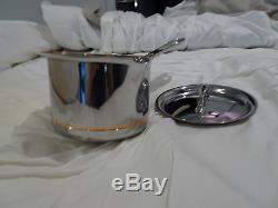 All-clad Copper-core 2 Pintes Qt Casserole Avec Couvercle Nouveau Witho Boîte