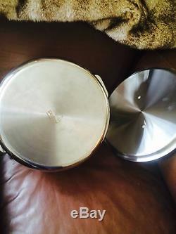 All-clad Cuivre De Base 8 Pintes Marmite & Couvercle Nouveau No Box
