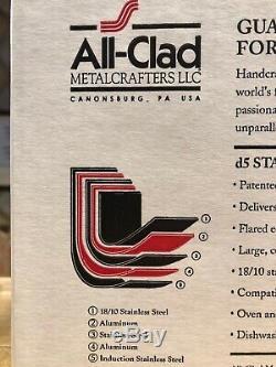 All-clad D5 12 Pintes Marmite Avec Couvercle Inoxydable Brossé 5-ply Bd55512 Nib