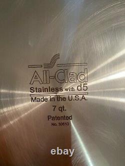 All-clad Stainless Avec D5 7 Quart Stockpot Avec Couvercle Neuf Sans Boîte