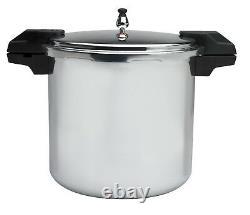Aluminium Poli 5/10/15-psi Cuisinière De Pression/canner Cuisinière 22-quart Argent