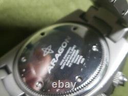 Aragon Virtuose Titane 8040. N 48mm 100om Diver Quart Suisse