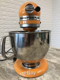 Artisan De Kitchenaid Mixer Orange 5 Pintes Modèle Ksm950pstg