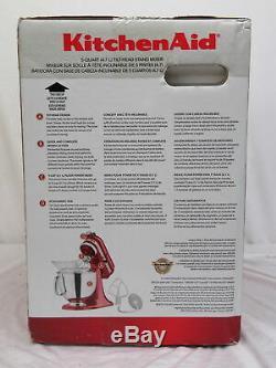 Artisan De Kitchenaid Socle À Tête Inclinable Empire Mixer Rouge 5 Pintes 4.7 L