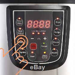Autocuiseur Électrique Multifonction Numérique En Acier Inoxydable 6/8/10 / 12qt