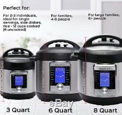 Autocuiseur Électrique Ultra Intelligent Instant Pot, Acier Inoxydable, 6 Pintes