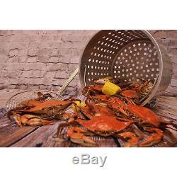 Bayou Classic Large 100 Quart En Acier Inoxydable Marmite / Panier À Chaud & Pratique