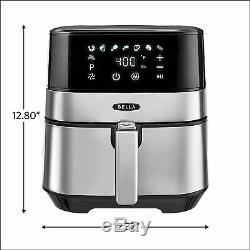 Bella (14734) Écran Tactile Air Fryer, 5,3 Watts 1700 Inoxydable Quart De Ninja En Acier
