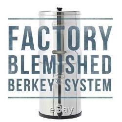 Berkey Filtre À Eau Purifient Avec 2 Bb-9 Filtres Noir Système Autorisé Blemished
