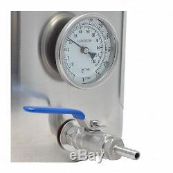 Bouilloire Ss304 En Acier Inoxydable De 40 L / 42 Pintes Avec Robinet À Tournant Sphérique Et Thermomètre