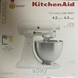 Brand New Kitchen Aid K45sswh White 4,5-quart Tilt-head Stand Kitchenaid
