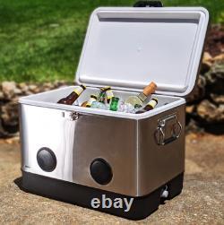 Brekx 54 Party Cooler Avec Pintes Bluetooth Haut-parleurs En Acier Inoxydable