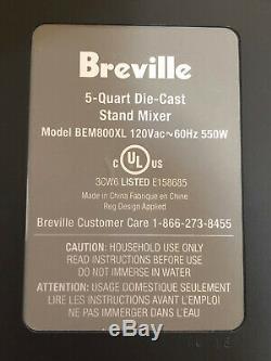 Breville Bakery Chef - Mélangeur Sur Table Avec Cuve En Acier Inoxydable Et Accessoires