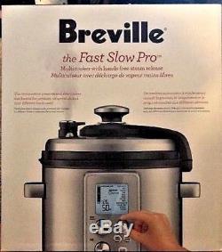 Breville Bpr700bss Le Multi-cuiseur Fast Slow Pro Argent Nib 6 Pintes