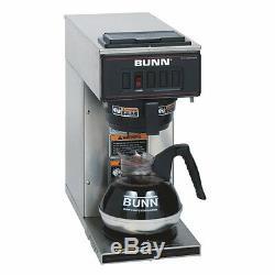 Bunn Vp17-1 Brewer Café 1600 W 2 Pintes 12 Coupes Non Acier Inoxydable