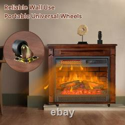 Chauffage De Cheminée Infrarouge Électrique Chauffant Autonome De Quart De Chauffage Led Flamme 1500w