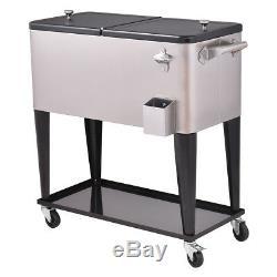 Coffret De Boissons Glacées En Acier Inoxydable Pour Réfrigérateur De Patio De 80 Litres, Neuf