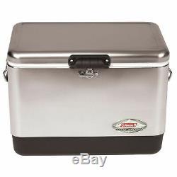 Coleman 54 Pintes Steel Belted Cooler En Acier Inoxydable 6155b707