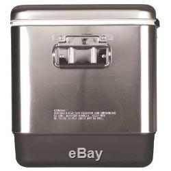 Coleman 6155b707 54 Pintes Comfort-grip En Acier Inoxydable Cooler Argent