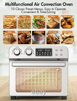 Convection Ultra Grande Friteuse D'air Grille-pain Four 24 Quart/6 Tranches 1700w 150-450