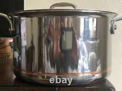 Core De Cuivre 4 Quart Sauce Pan & LID New Witho Box (modèle D'affichage)