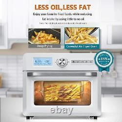 Crownful 19 Quart Air Fryer Toaster Oven, 10-en-1 Countertop Oven Blanc