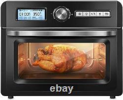 Crownful 19 Quart Air Fryer Toaster Oven, Rôtisseur Convection & Déshydrateur, Noir