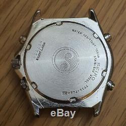 Cru Seiko 7t32-7c20 Sports 150 Diver 150m Chrono Watch Quarts Est En Cours D'exécution