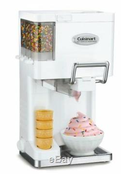 Cuisinart Ice-45 MIX It In Soft Serve 1-1 / 2 Pintes Maker Ice Cream, Blanc