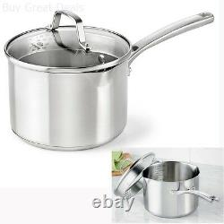 Cuisinière Calphalon Classic En Acier Inoxydable Cuisinière Cuisinière Pot Couvert Couvercle 3.5 Quart