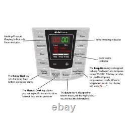 Cuisinière Électrique Multi-fonction 6 Litres 1000w Yogourt En Acier Inoxydable Ul