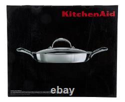 Cuivre À 5 Couches D'aide À La Cuisine Core 3.5-quart Braiser Pan With LID Silver