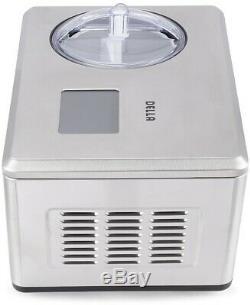 Della Ice Cream Maker 2,2 Quarts Automatique Frozen Ice Cream Fonction Minuterie Rapide