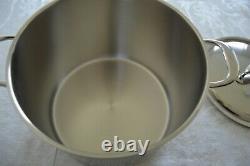 Demeyere Atlantis 7-ply Silvinox 8.5 Quart Pot De Stock Avec Couvercle Et Boîte Originale