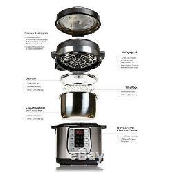 Emeril Lagasse Autocuiseur Plus 6 Pintes Air Fryer Double Lit En Acier Inoxydable