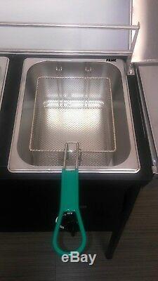 Extérieur 2 Réservoir Bien Fryer, 2 Paniers En Acier Inoxydable Et 10 Quarts D'huile Remarque Réservoir