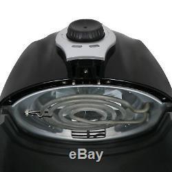 Friteuse Électrique Noire De L'air 1500w 3,7 Pintes Avec L'huile Libre De Contrôle De Température De Minuterie
