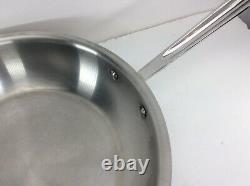Fry Pan 12 4 Quart Tout-plaqué D5 En Acier Inoxydable