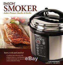 Fumeur Et Cuiseur À Pression Intérieure Smoker D'une Capacité De 5 Pintes Emson 1000 Watts
