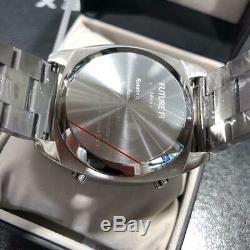 Future Funk Analog Retro Montre-bracelet Japon Pintes En Acier Inoxydable Mens Rares