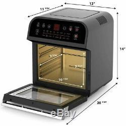 Gowise 12,7 Pintes Électrique 15-en-1 Programmable Air Fryer Et Four Combo, Noir